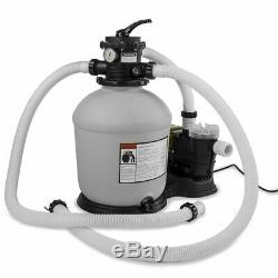 Swimming Pool 16-inch Sand Filter with 3,100 GPH 3/4 HP Pool Pump Timer Package