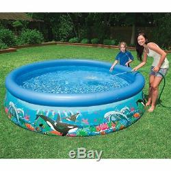 Swimming Pool Set Above Ground For Kids Big Portable Pond Water Filter Animals