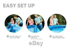UpNEW INTEX 28157EH 15 x 33 EASY SET ABOVE GROUND POOL WITH FILTER CARTRIDGE PUM
