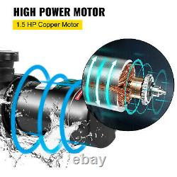 VEVOR Swimming Pool Pump Motor 1.5 HP Above Ground Pool Pump withFilter Strainer