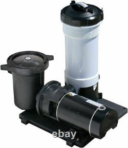 Waterway TWM Above Ground Swimming Pool Cartridge Filter with 1 HP E-Series Pump